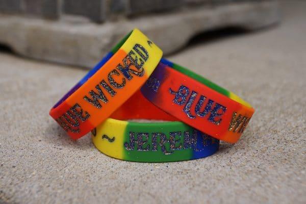 jeremy heiden wristband, jeremy heiden blue wicked wristband