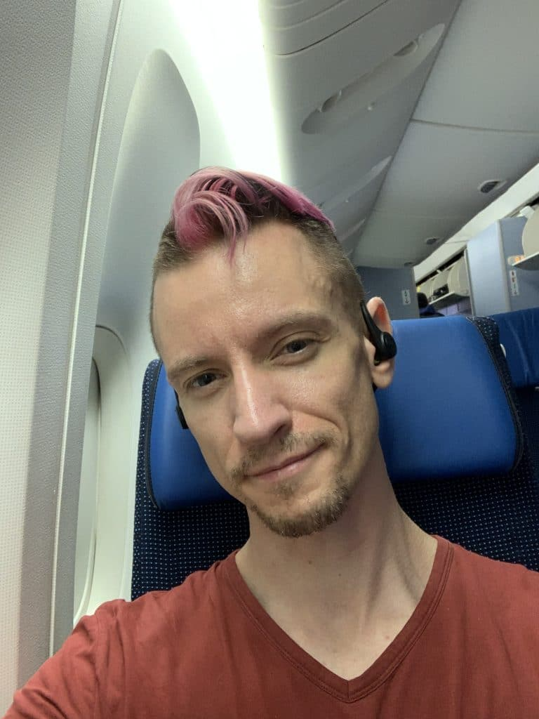 Jeremy Heiden flying to Japan